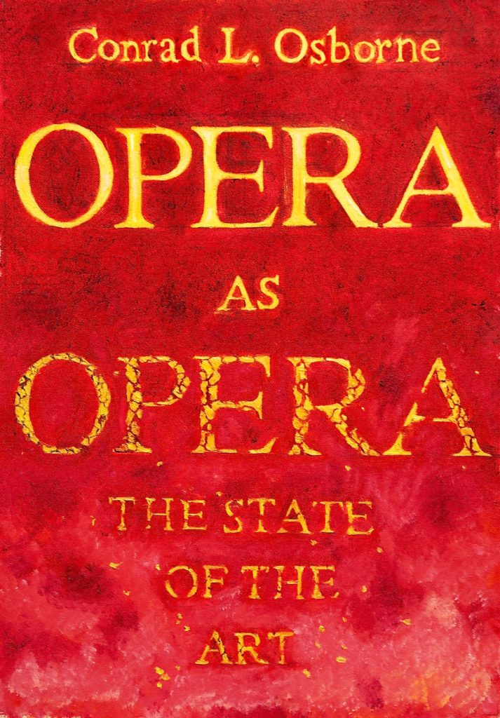 Opera as Opera (book cover)